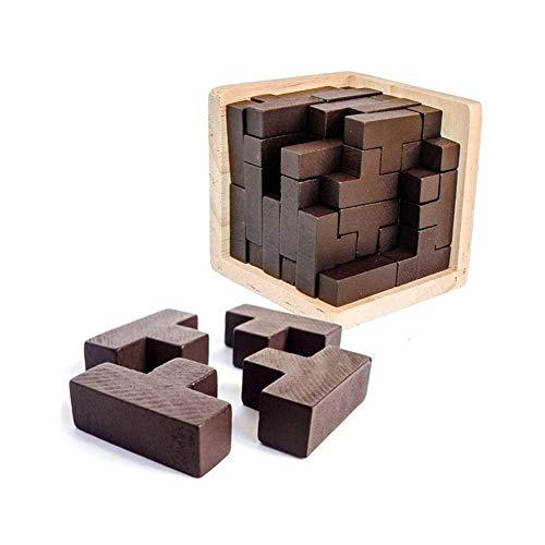 3d houten puzzel kubus for kinderen en volwassenen Magic Blocks Gift Bureau Puzzles kubus puzzel blokken set Moeilijk Brain Challenge Intellectual Games