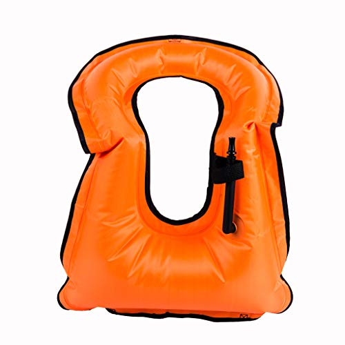 Gogokids Kinder Schnorchelweste Kinder aufblasbare Schnorcheljacke für Jungen Mädchen Jugendliche Tauchen Schwimmen 5–14 Jahre, Jungen, S190416FLBX0302, Orange