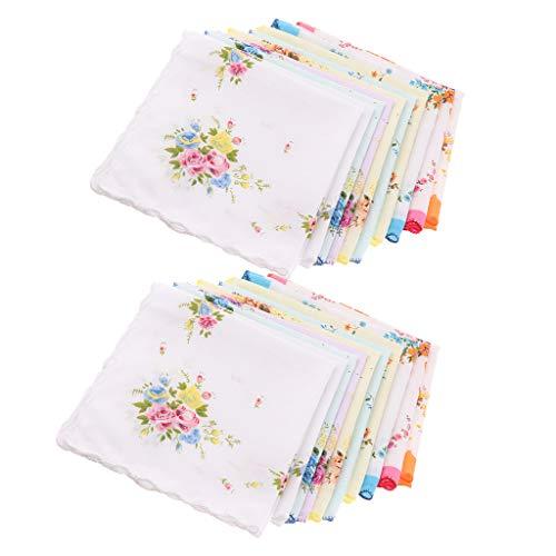 Hellery 20pcs mouchoirs en tissu mouchoir en...