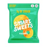 SmartSweets Peach Rings, Candy with Low Sugar (3g), Low Calorie, Plant-Based, Free From Sugar Alcohols, No Artificial Colors or Sweeteners, 1.8 oz. (Pack of 12)