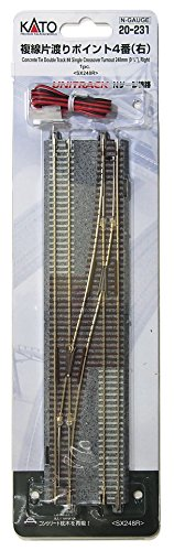 KATO Nゲージ 複線片渡りポイント4番 右 20-231 鉄道模型用品