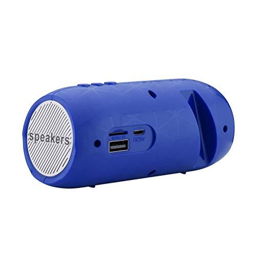 HDDFG Altavoz Bluetooth Altavoz portátil para Exteriores Inalámbrico Mini Columna Estéreo Música Soporte Envolvente Tarjeta TF Caja de Graves (Color : Blue)