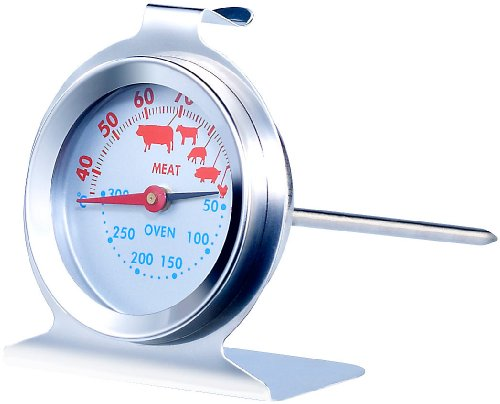 Rosenstein & Söhne Backthermometer: 3in1 XL Braten- und Ofen-Thermometer für Gar- & Backofentemperatur (Analoge Fleischthermometer)