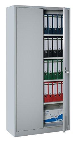 Flügeltürenschrank Schrank Stahl Stahlblech Lagerschrank Aktenschrank Büroschrank Werkzeugschrank 4 Fachböden/4,5 OH/Maße: 1800x800x380mm 530330 kompl. montiert und verschweißt
