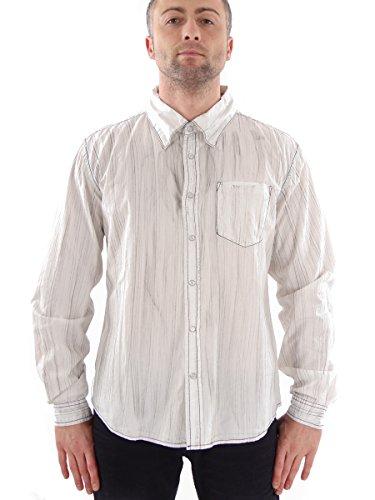 One Green Elephant Hemd Streifenhemd M Denim Shirt Crayon weiß HE1301/010 (XXL)