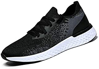 DAYOUT Men's Slip on Shoes Black White Grey Non Slip Outdoor Sneakers Walking Athletic Workout Shoes Casual Fashion Lightweight Shoes for Men