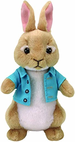 Ty- Peter Rabbit Peluche Cottontail, Color Verde (United Labels Ibrica 42278TY)