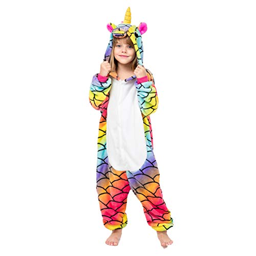Coralup Mono de franela con capucha para niños y niñas, con diseño de unicornio, dinosaurio, león, cebra, supersuave Sirena de unicornio 3-4 años/110 cm