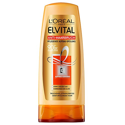 L'Oréal Paris Elvital Anti-Haarbruch Spülung, 3er Pack (3 x 200 ml)