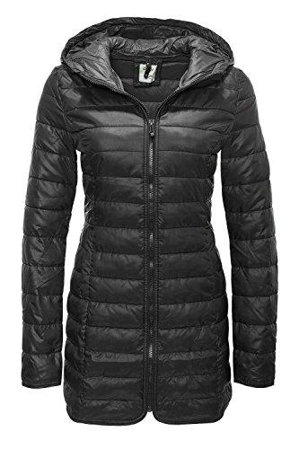ONLY Damen onlTAHOE Quilted Contrast Coat CC OTW Mantel, Schwarz (Black), 38 (Herstellergröße: M)