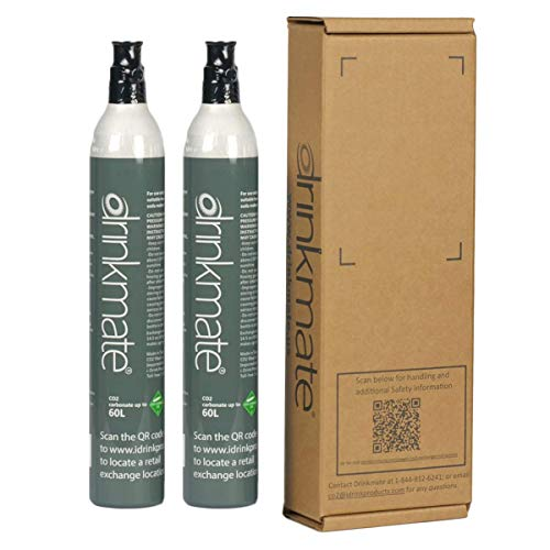 Drinkmate 60L CO2 Refill Cartridges, Compatible with SodaStream (14.5oz) - 2...