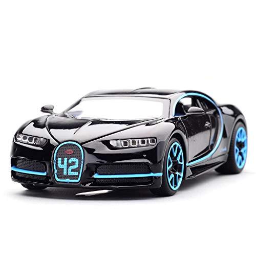 QueenHome Modellauto Bugatti Veyron modellauto 1/32 Alloy Diecast Car Model Collection Light&Sound Mit Zinklegierung Rückzug Diecast Toy Car Modellsammlung Mit Leichtem Sound Für 2 Bis 7 Jahre