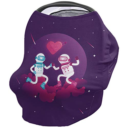 Why Choose Valentine's Day Nursing Cover for Baby Breastfeeding, Soft Breathable Stretchy Carseat Ca...