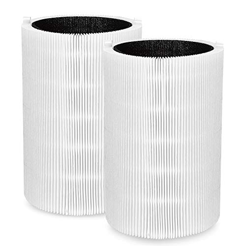 isinlive Replacement Filter Contains Particle and Activated Carbon, fit for Blueair Blue Pure 411, 411+ & Mini Air Purifiers, 2 Pack