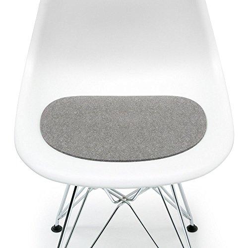 Hey Sign Sitzauflage hellmeliert mit Antirutsch für Eames Plastic Side Chair