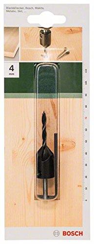 Bosch Holzspiralbohrer mit Senker 90° (Ø 4 mm)