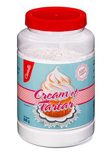 Cremor Tartaro - Qualità Premium Alimentare - 100% Naturale dall'uva - Fatto in Spagna - Senza Glutine - Keto e Paleo - Non OGM (GMO) - Castello since 1907 - 800 g