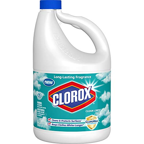 Clorox Bleach, Clean Linen Scent, 121 Ounces, 3 Bottles/Case (30773)