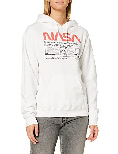 Brands In Limited NASA Space Shuttle Program Sudadera, Blanco (White Wht), 38 (Talla del Fabricante: Medium) para Mujer