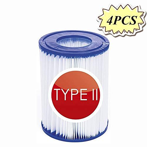 NJYBF Pool-Filterkartusche Größe 2 für Bestway, aufblasbarer Pool-Filter, Poolreinigungsfilter Zubehör, Filterkartuschen Kartuschenfilter Papier. (4 PCS)