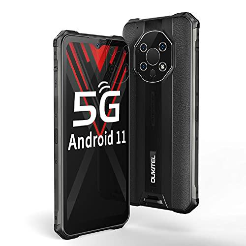OUKITEL WP13 Dual 5G Termometro a Infrarossi Rugged Smartphone IP68/69K, 6.52 Pollici HD+, 8GB+128GB MediaTek Dimensity 700, Tre Fotocamere 48MP Antiurto Smartphone Robusto, Android11 Batteria 5282mAh