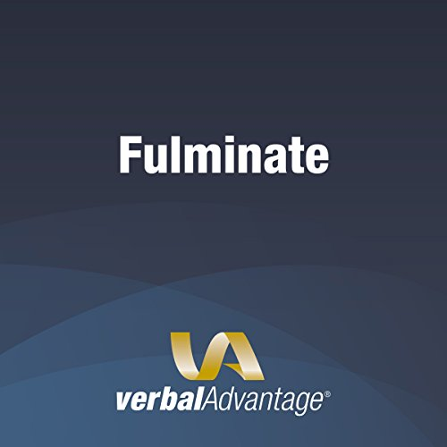 Word of the Day: Fulminate cover art