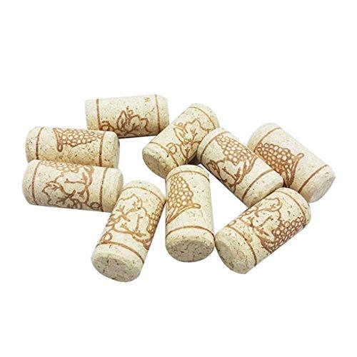 Yihaifu 15pcs Recta corchos de Botella de Madera tapón del Vino Corchos del Vino Tapones de Botellas de Vino La Barra de Herramientas de Corcho Tapas de Cierre de Madera