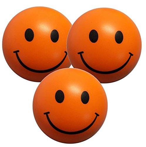 StressCHECK Pelota Anti Estrés - 3 x Bola Anti-Estrés Color Naranja - Bola Estrujable para ADHD & Austismo