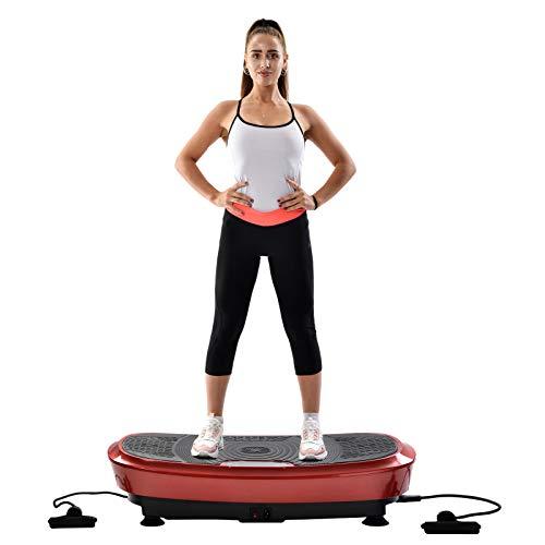 VSTAR66 Profi Fitness Slim Power Vibrationsplatte, 3D Wipp Vibration Technologie Bluetooth, 2 Kraftvolle Motoren Fernbedienung Vibrationstrainer Abnehmen Formen Muskeln Verbesserung Körperlichen