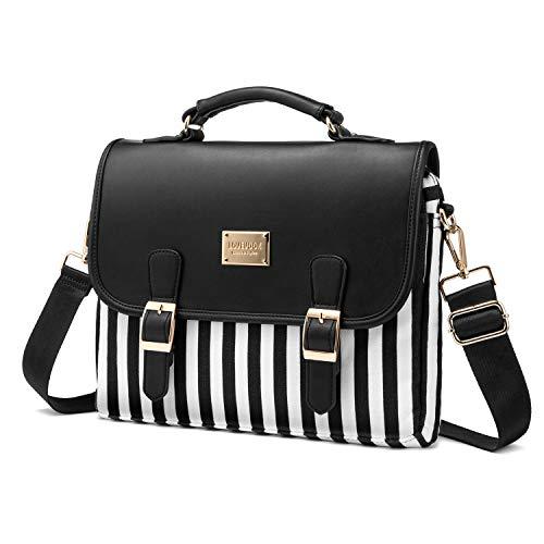 Computer Bag Laptop Bag for Women Cute Laptop Sleeve Case for Work College, Slim-Black, 13-Inch