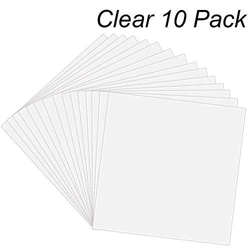 12 X 12 Inch BAISDY 20PCS 4mil Thickness Clear Mylar Sheet Blank Mylar Stencil Sheets