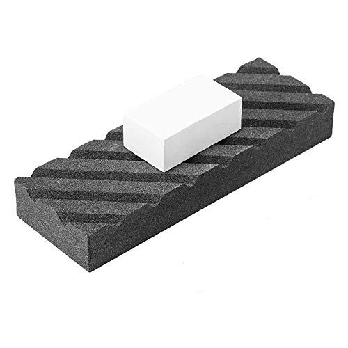 GFHFG Dual Grit Coarse/Fine Flattening Stone Set - Two Sharpening Stones Flattener - Whetstone Fixer with Grooves