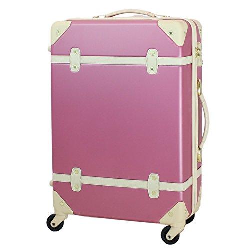 MOIERG(モアエルグ) キャリーバッグ YKK使用 軽量 かわいい スーツケース 大型 (L, ピンク)【81-80003-31】修学旅行