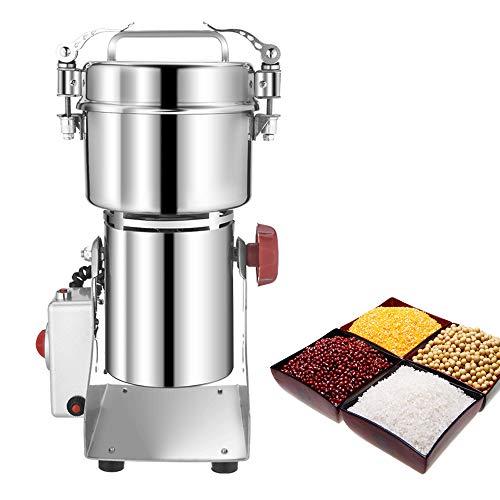 700g Electric Grain Mill Grinder DAMAI Spice Cereal Grain Mill Herb Flour Powder Machine,Pulverizer 110v Swing Type High Speed