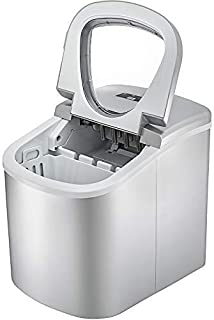 Machabeau Machine à Glaçons Portable 12kg par 24H Mini Commercial Ice Maker avec LCD (argenté)