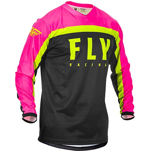 Fly Racing 2020 F-16 Jersey (Small) (NEON Pink/Black/HI-VIZ)