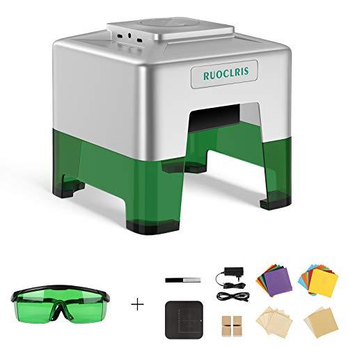 Ruoclris レーザー彫刻機 レーザー刻印機切断 カッターC50ミニワイヤレススマートレーザー彫刻機 スマホ対応 アプリBluetooth APP操作自由にDIYさまざまな材料 刻印エリア98 x 88mm