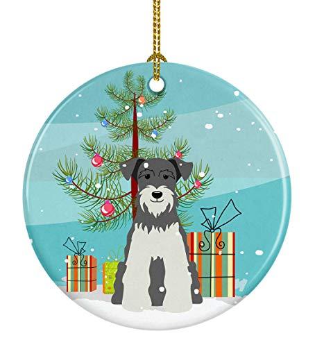 Caroline's Treasures Merry Christmas Tree Miniatur Schanuzer Salz und Pfeffer Keramik Ornament, Mehrfarbig
