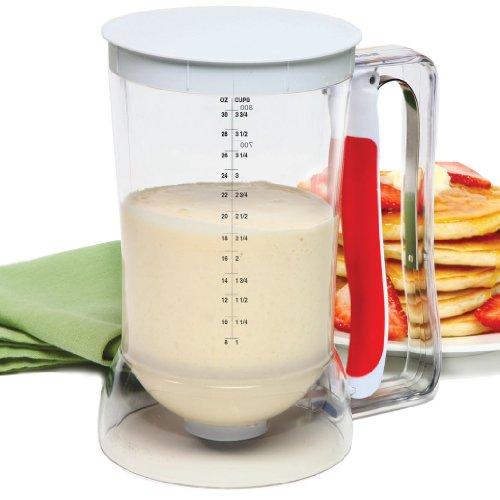 Norpro 1013 Batter Dispenser Clear/Red, 4 cup