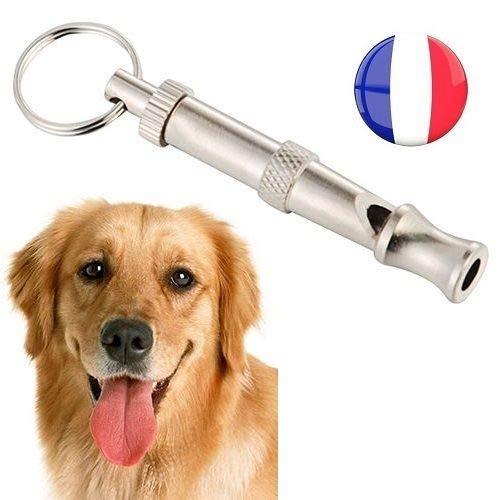 SIMPLISIM–Silbato para Perro a exhaustividad Entrenamiento Adiestramiento Puerta Llaves Ultra Sonido Reflexe Cachorro