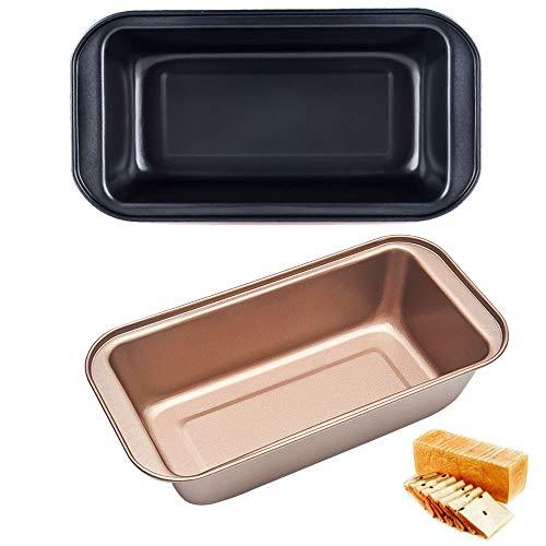 Gsyamh Horneando Moldes para Pan y Cake Antiadherente Caja Pan Tostado Molde para Hornear De Acero Al Carbono Artículos De Cocina Aptos para Postres y Fiestas, Muy Prácticos(2 Piezas)