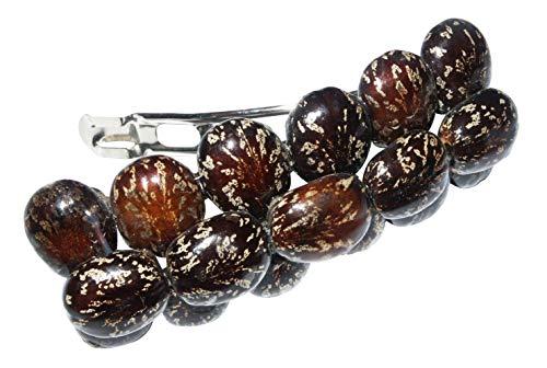 Barrette à cheveux avec graines marron - Collection Crazy Clips Original ERRO - Idée cadeau - Superbe accessoire de mode