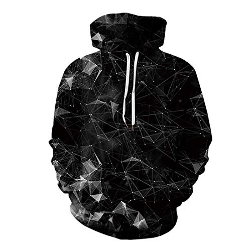 DOLAA 3D Pullover Hoodie for Men Women Long Sleeve Drawstring Hooded Sweatshirts with Big Pockets 3D Prints Pullover Jumpers Breathable Hoodies Patterned Sweatshirts for Mens Size Unisex