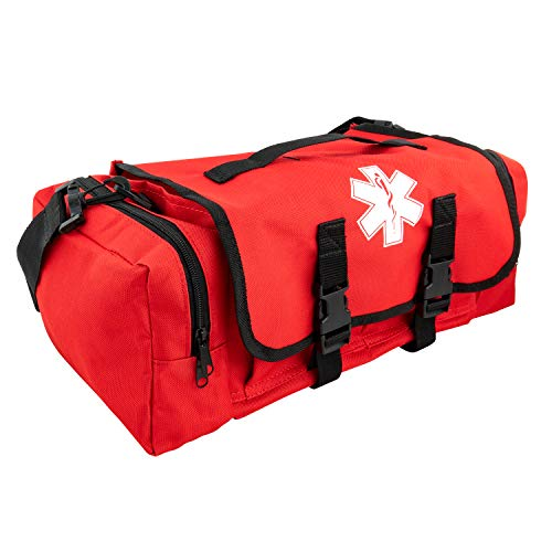 LINE2design First Aid Medical Bag - EMS EMT Paramedic Economical Tactical First Responder Trauma Bag Empty - Portable Outdoor Travel Jump Rescue Bags – Red