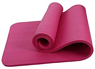 Pink 10mm Natural rubber Anti slip antibacterial Environmental protection material Pliant Yoga Mat for exercise