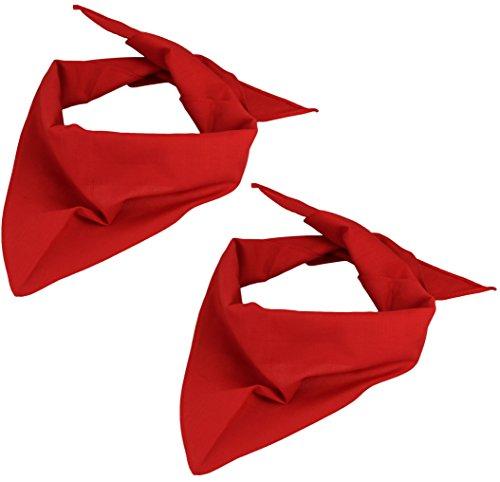 Alex Flittner Designs 2er Pack Dreieckstuch in rot/rot