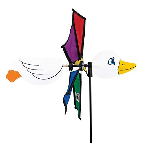 CIM Girandola a vento, Anatra Emma, girandola: Ø 32 cm, motivo: 36 cm, altezza complessiva: 100 cm, resistente ai raggi UV e alle intemperie, include