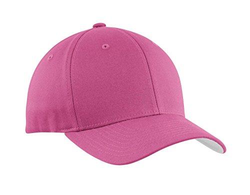 Port Authority® Flexfit® Cotton Twill Cap. C813 Charity Pink L/XL