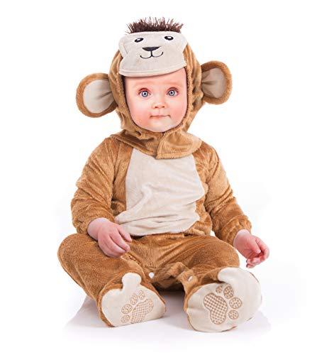 Instant Costumes Traje del Animal del bebé del Mono de la Felpa (6-12 Meses)