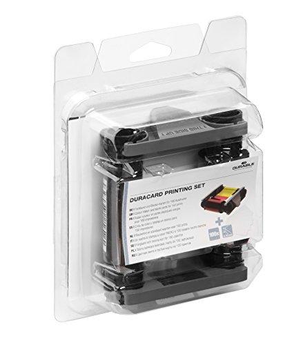 Durable 891300 Farbband und 100 Plastikkarten Duracard Printing Set, sortiert